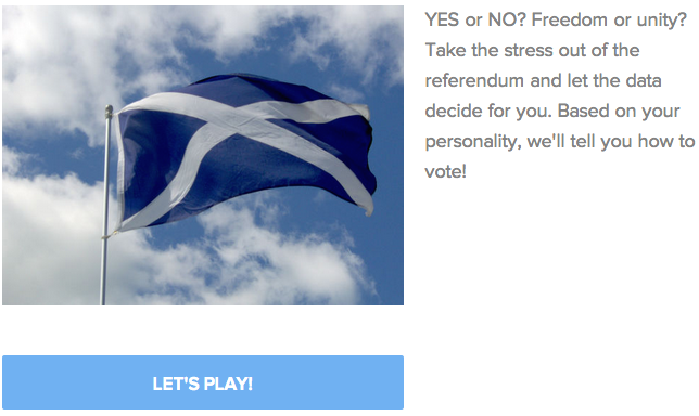 Which Way Should You Vote On Scottish Independence?
